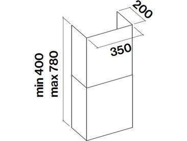 FALMEC cheminée KCQAN.00#N pour hotte FLIPPER, GLEAM, QUASAR et DIAMANTE 35 cm (Noir - Acier)
