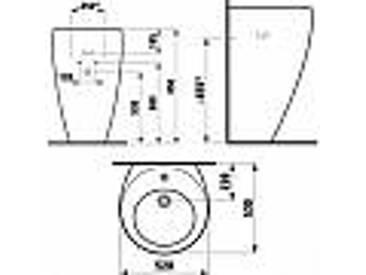 Laufen Alessi One Lavabo avec pilier et accrochement avec Laufen clean coating 52x53cm avec bonde blanc 8119714001091