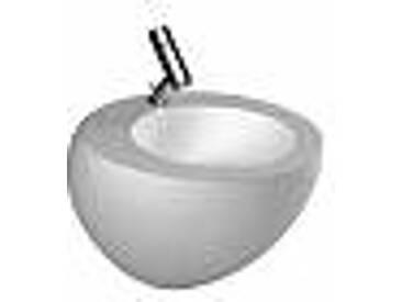 Laufen Alessi Lavabo avec cache siphon avec Wondergliss 52x52.5cm avec trou pour robinetterie avec clou blanc h8109714001041