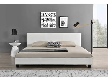 Lit Contemporain Blanc-160 x 200 (cm)