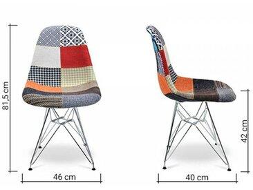 Famous Design Chaise DSR rembourrée - Patchwork