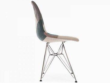 Famous Design Chaise DSR rembourrée - Patchwork bleu