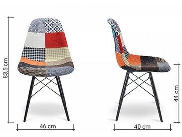 Famous Design Chaise DSW rembourrée - Patchwork