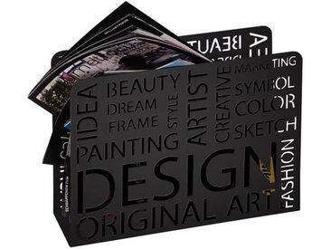 Porte revue Design noir