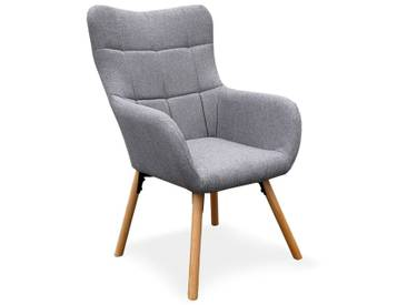 Fauteuil Design Scandinave Arkos 105cm Gris - Paris Prix