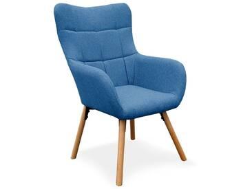 Fauteuil Design Scandinave Arkos 105cm Bleu - Paris Prix