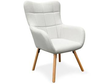Fauteuil Design Scandinave Arkos 105cm Beige - Paris Prix