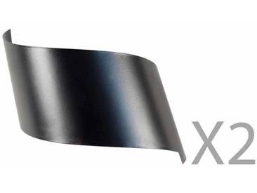 Applique murale design en métal noir (Lot de 2) VIRA