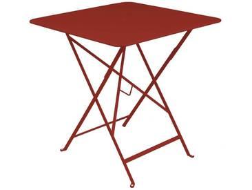 Table de jardin FERMOB carrée pliante 71x71 cm acier laqué piment despelette BISTRO