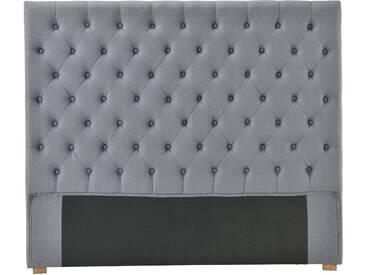 Tête de lit en tissu L160cm gris CUSTOMIZE