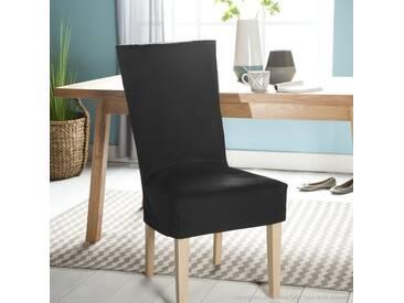 Housse de chaise courte en coton noir ISA