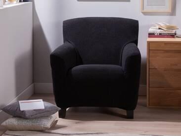 Housse de fauteuil extensible noir LISA