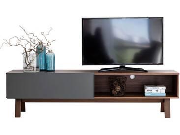 Meuble TV en métal laqué gris MOH