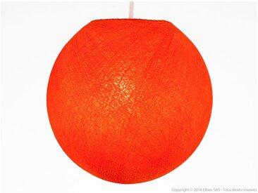 Suspension boule en coton rouge