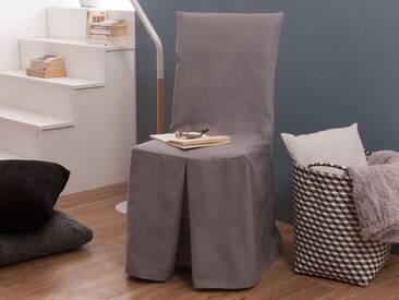 Housse de chaise coton gris clair INES