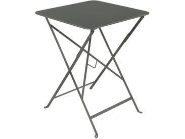 Table de jardin FERMOB carrée pliante 57x57 cm acier laqué romarin BISTRO