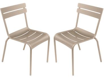 Chaise de jardin FERMOB empilable aluminium muscade (x2) LUXEMBOURG