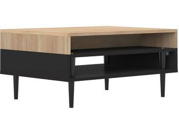 Table basse scandinave en bois noir HORIZON