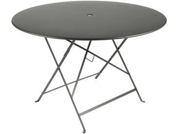 Table de jardin FERMOB ronde pliante 117cm acier laqué romarin BISTRO