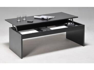 Table basse relevable rectangulaire en bois noir DARWIN