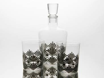 Coffret carafe et verre à whisky art deco GRAND HOTEL
