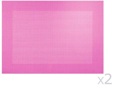 Set de table PVC rose 33x46 (Lot de 2) TOPS