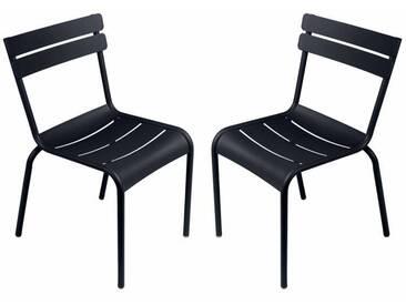 Chaise empilable FERMOB en aluminium noir (x2) LUXEMBOURG