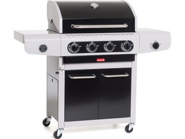 SIESTA 412 - BLACK EDITION - barbecue gaz - 4 bruleurs + 1 réchaud latéral