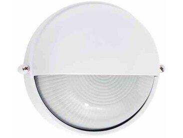 Applique extérieure ronde blanc en métal et verre TWEETY