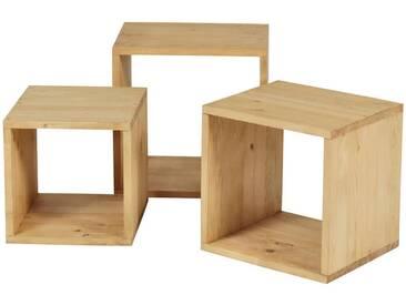 Etagère cube en bois massif (lot de 3) COLORADO