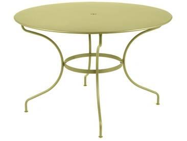 Table de jardin FERMOB ronde D.117cm en acier vert OPERA