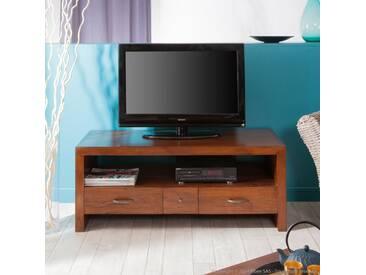 Meuble TV 3 tiroirs avec niche en bois FREESIA