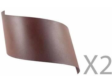 Applique murale design en métal marron (Lot de 2) VIRA