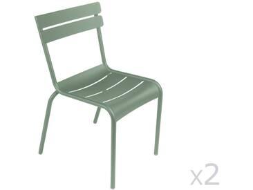 Chaise de jardin empilable FERMOB aluminium vert cactus (x2) LUXEMBOURG