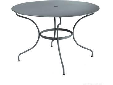 Table de jardin FERMOB ronde D.117cm en acier gris OPERA