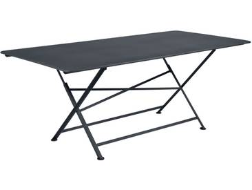 Table FERMOB pliante rectangulaire 90x190 carbone CARGO