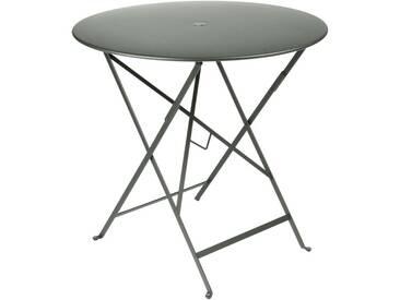 Table de jardin FERMOB ronde pliante D.77cm acier laqié romarin BISTRO