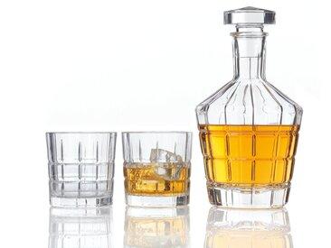Carafe en verre et 2 Verres àwhisky SPIRIT