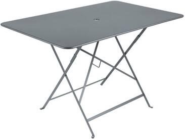 Table de jardin FERMOB rectangulaire pliante 117x77 cm acier laqué gris orage BISTRO