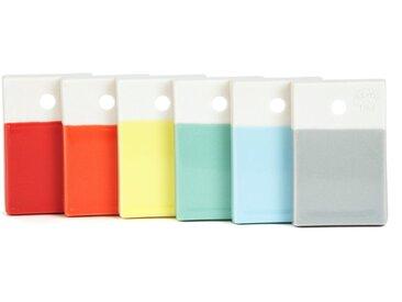 Repose couteaux en porcelaine multicolore (Lot de 6) COLOR LAB