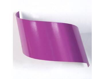 Applique murale design en métal violet 26cm VIRA