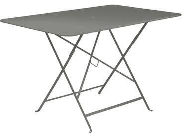 Table de jardin FERMOB rectangulaire pliante 117x77cm acier laqué romarin BISTRO