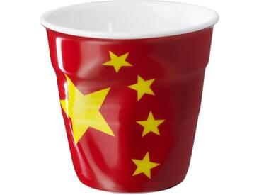 Gobelet expresso en porcelaine rouge FROISSES COUNTRY