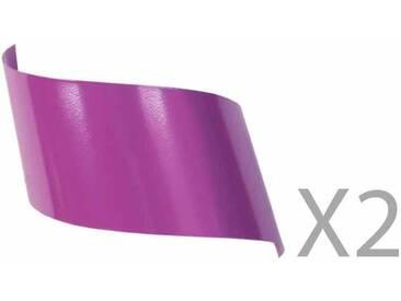 Applique murale design en métal violet (Lot de 2) VIRA