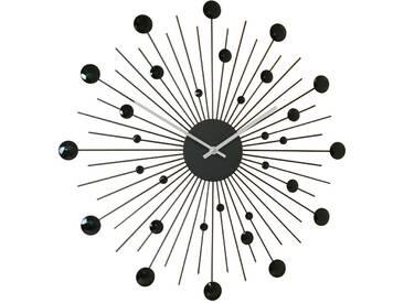 Horloge murale soleil noir D.48cm