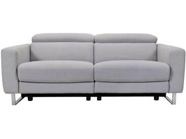 Canapé relax électrique en tissu design avec pied luge MARCEAU