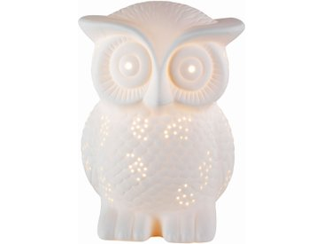 Lampe à poser porcelaine chouette
