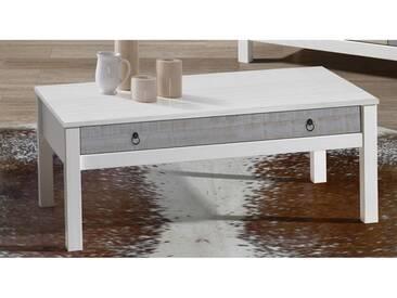 Table basse en bois massif 1 tiroir L100cm FLORA