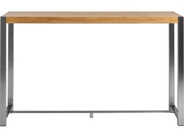 Table de bar rectangulaire en métal et bois chêne JOVANNA