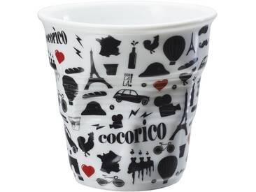 Tasse à expresso en porcelaine noir FROISSES